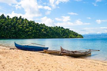 traditional Malagasy boat. Madagascar