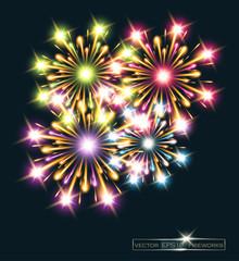 fireworks stars color vector