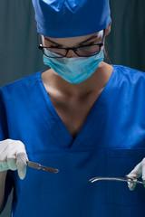 Surgeon during operation