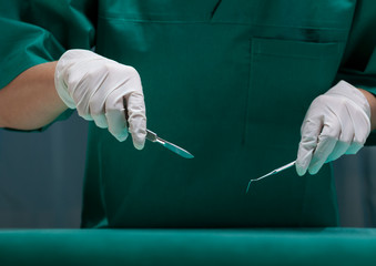 Surgeon in green uniform