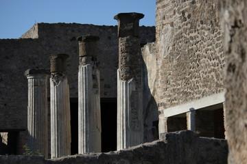 Pompei roman Forum, colonnade detail