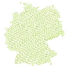 Landkarte *** scribbled Germany
