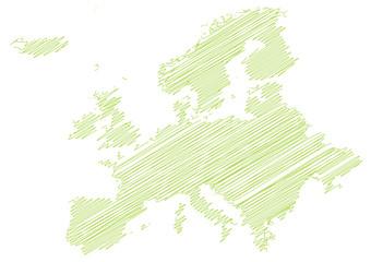 Landkarte *** scribbled Europa
