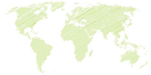 Landkarte *** scribbled Weltkarte