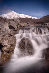 Crystal waterfall below Tolbachik peak