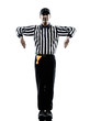 american football referee gestures illegal shift silhouette