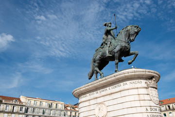 Statue of King John I in Lisbon, Portugal