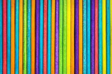 Colorful Vertical Wood Sticks