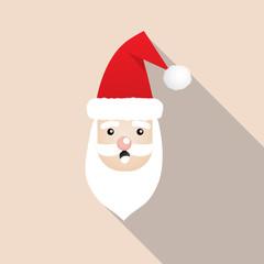 Cute Santa Clauses icon.Cartoon styles for christmas