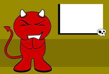 devil halloween cartoon background card0