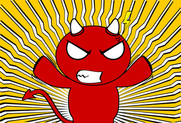 devil halloween cartoon background card8