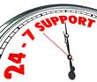 24 7 Support Words Numbers Clock Customer Service Always Open