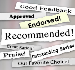 Recommended Approved Review Rating Torn Headlines Words