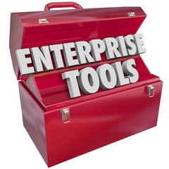 Enterprise Tools Red Metal Toolbox Company Business Software App