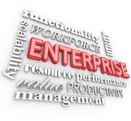 Enterprise 3d Words Business Company Workforce Organization