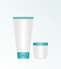 Realistic illustration of cream cosmetic