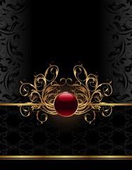 golden ornate frame for design