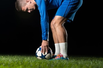 Soccer Player Positions The Ball