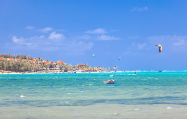 anse Mourouk, paradis des kitesurfeurs, Rodrigues