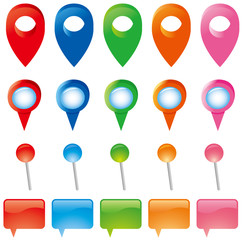 Map Pins Markers Set