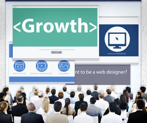 Business People Web Design Growth Seminar Concept