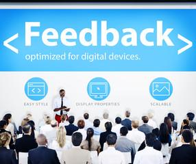 Business People Feedback Presentation Concept