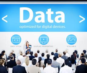 Business People Data Presentation Concept
