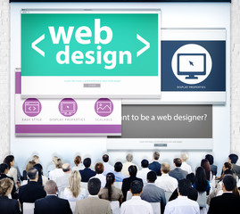 Business People Web Design Seminar Concept