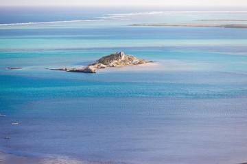 îlot Hermitage dans le lagon rodriguais