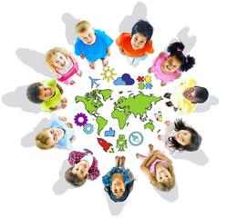 Multi-Ethnic Children with World Concepts