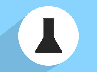 Laboratory medical flask ,Flat design style