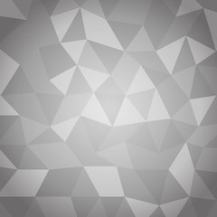 Abstract triangle with gray background