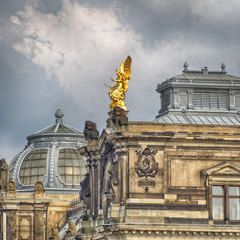 Dresden Academy of Arts roof, Saxony Germany