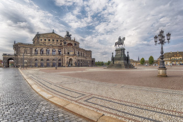 Dresden Germany, Opera house and King John's statue