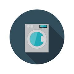 Flat Design Concept Washing Machine Vector Illustration With Lon