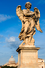 Angel with the thorn crown statue, Rome, Italy