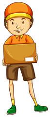 A sketch of a postman