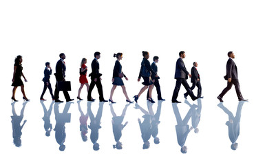 Business People Corporate Walking Team Concept