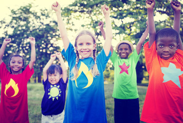 Children Playing Happiness Celebration Outdoors Concept