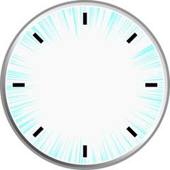 時計 集中線