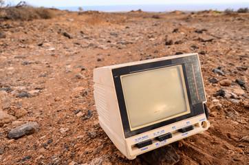 Broken Gray Television Abandoned