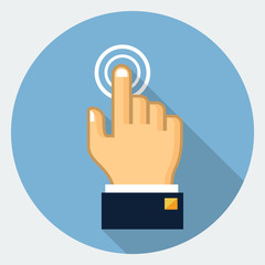 Vector touch finger icon