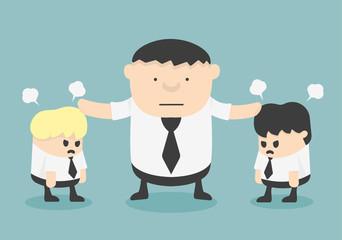 business stop man quarreling