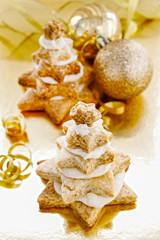 Gingerbread christmas trees. Beautiful xmas dessert