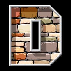 stone letter D