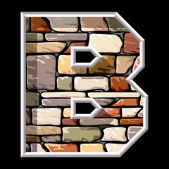 stone letter B