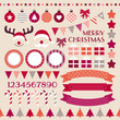 Retro Christmas Set Red