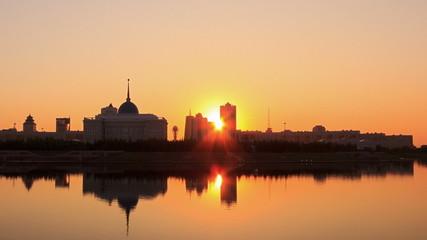 The night comes. Astana, Kazakhstan