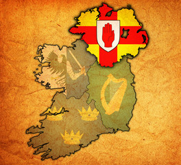 ulster on map of ireland
