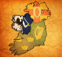 connancht on map of ireland